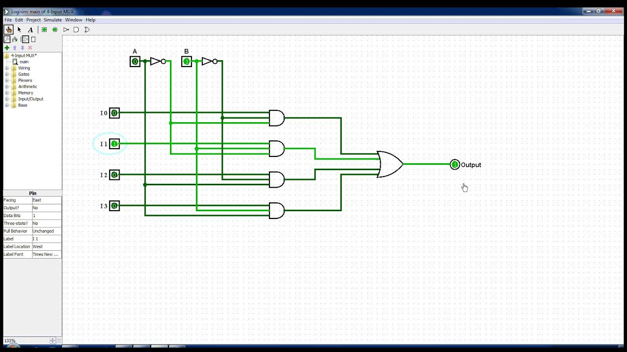 hight resolution of 4 input multiplexer