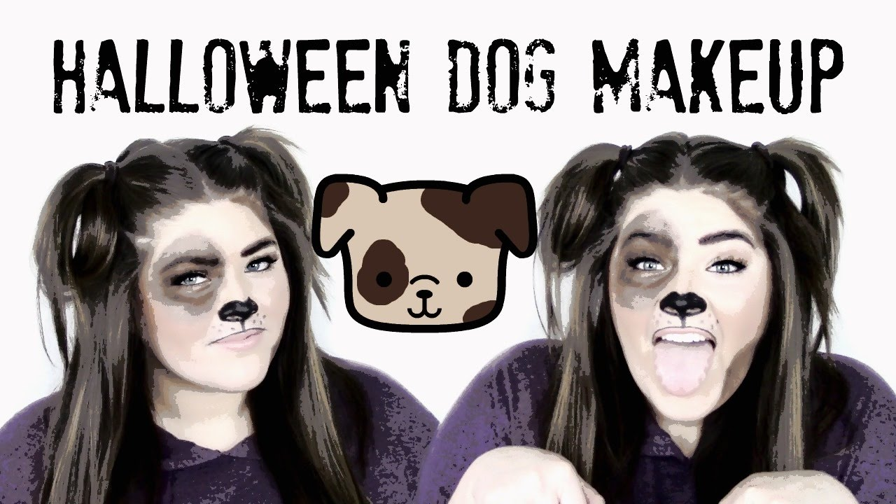 Easy Halloween Dog Makeup Tutorial - YouTube