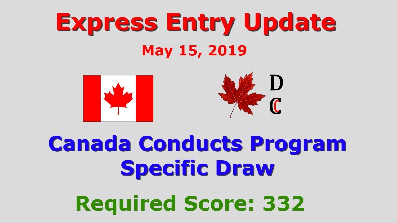 Express Entry Draw May 15, 2019 | Express Entry Canada Update