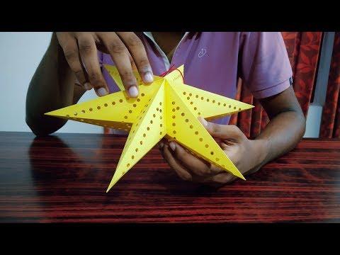 DIY How to make Star Lantern For  Christmas Decoration