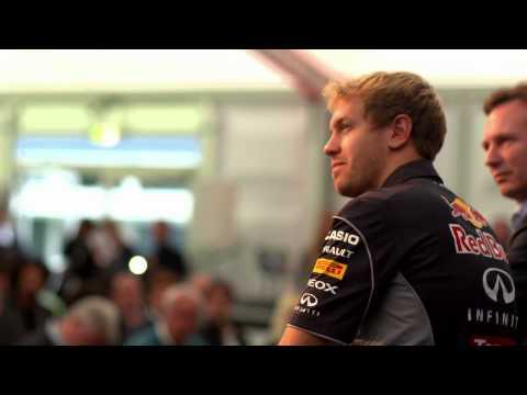Sebastian Vettel Returns To The Red Bull Factory Following Fourth World Title