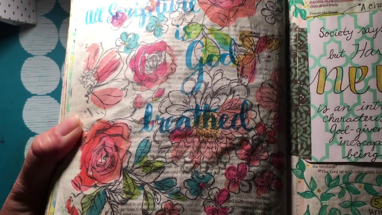 Bible Art Journaling Paper Napkin Pages Youtube