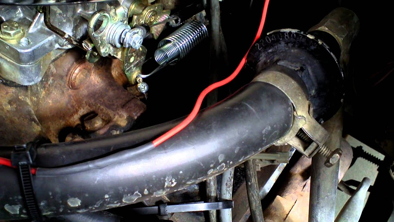 how to wire an edelbrock electric choke Universal Choke Cable