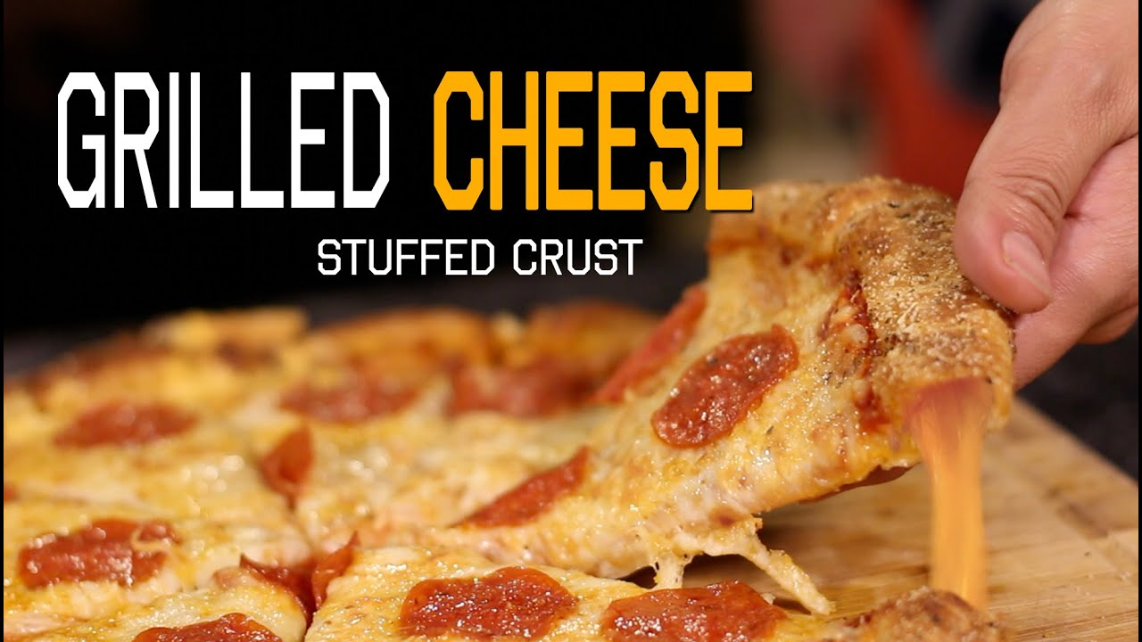 grilled cheese stuffed crust pizza