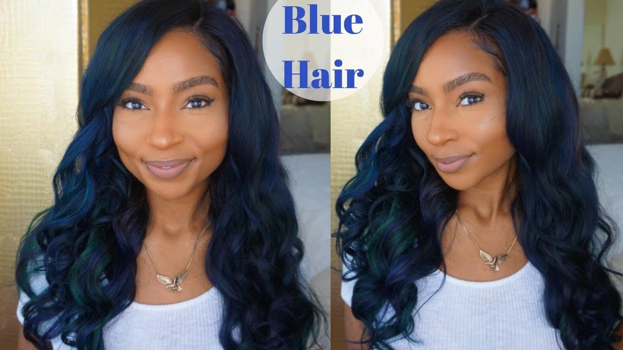 How To Dye Hair Midnight Blue Turquoise Ft Ali Julia Iamlindaelaine