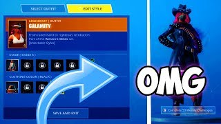 "HOW TO CHANGE COLORS ON ""Calamity"" SKIN in Fortnite! (UNLOCK COLOR CHANGING MAX CALAMITY *FAST*)"