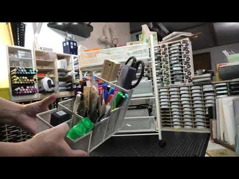 Craft Storage: Journaling supplies using Companion Cart organizer