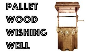 Pallet Wood Wishing Well || Wedding Card Collection Box