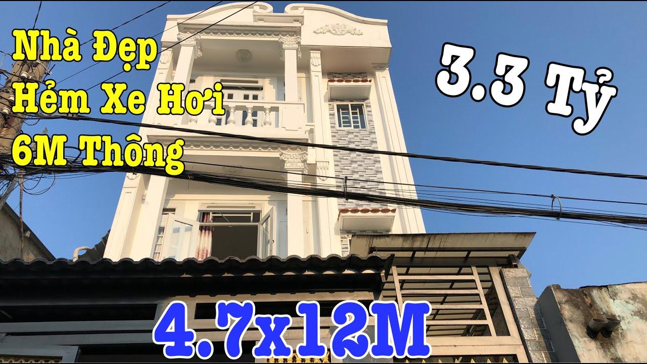 Bán Nhà Quận 12, Bán Nhà Vị Trí Đẹp Hẻm Thông DT 4.7x12M Xây 3 Tấm P.Tân Thới Hiệp Giá Rất Rẻ