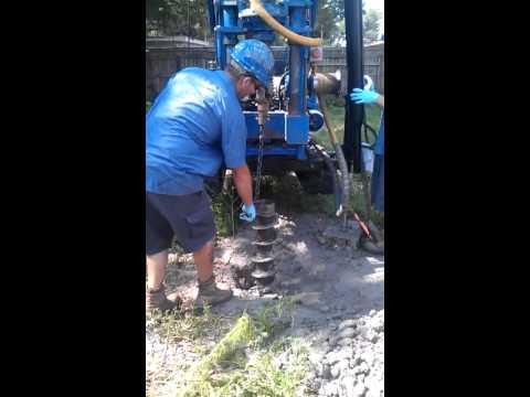 Field Sampling - drilling monitoring well #2