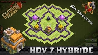 Clash of clans, Village HDV 7 Farm, Protection des ressources ! New Maj 2016 ! SpeedBuilding
