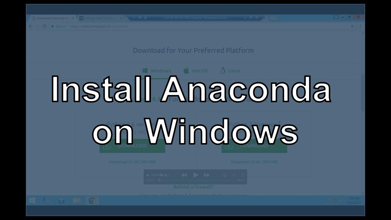 Install Python on Windows (Anaconda) - Michael Galarnyk - Medium