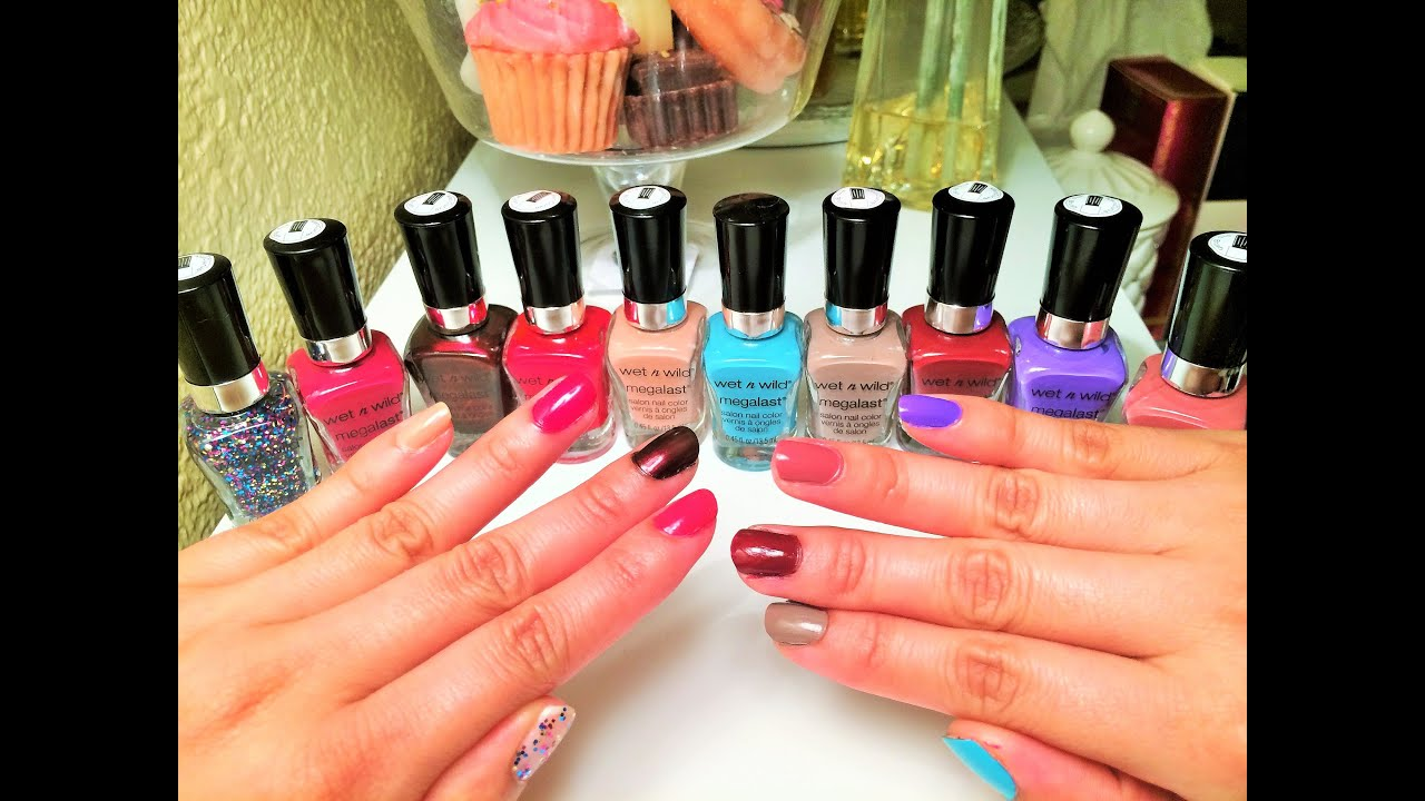 0 68 Cent Wet N Wild Megalast Nail Polish Haul Coupon Deal Swatch Review You