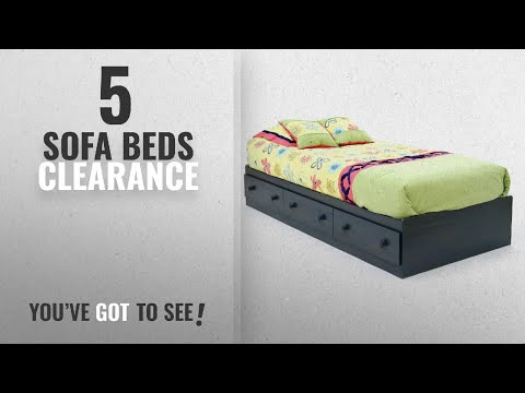 Top 10 Sofa Beds Clearance [2018]: Summer Breeze Collection Twin Bed With Storage - Platform Bed