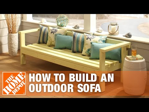 DIY Patio Furniture: Outdoor Sofa | The Home Depot