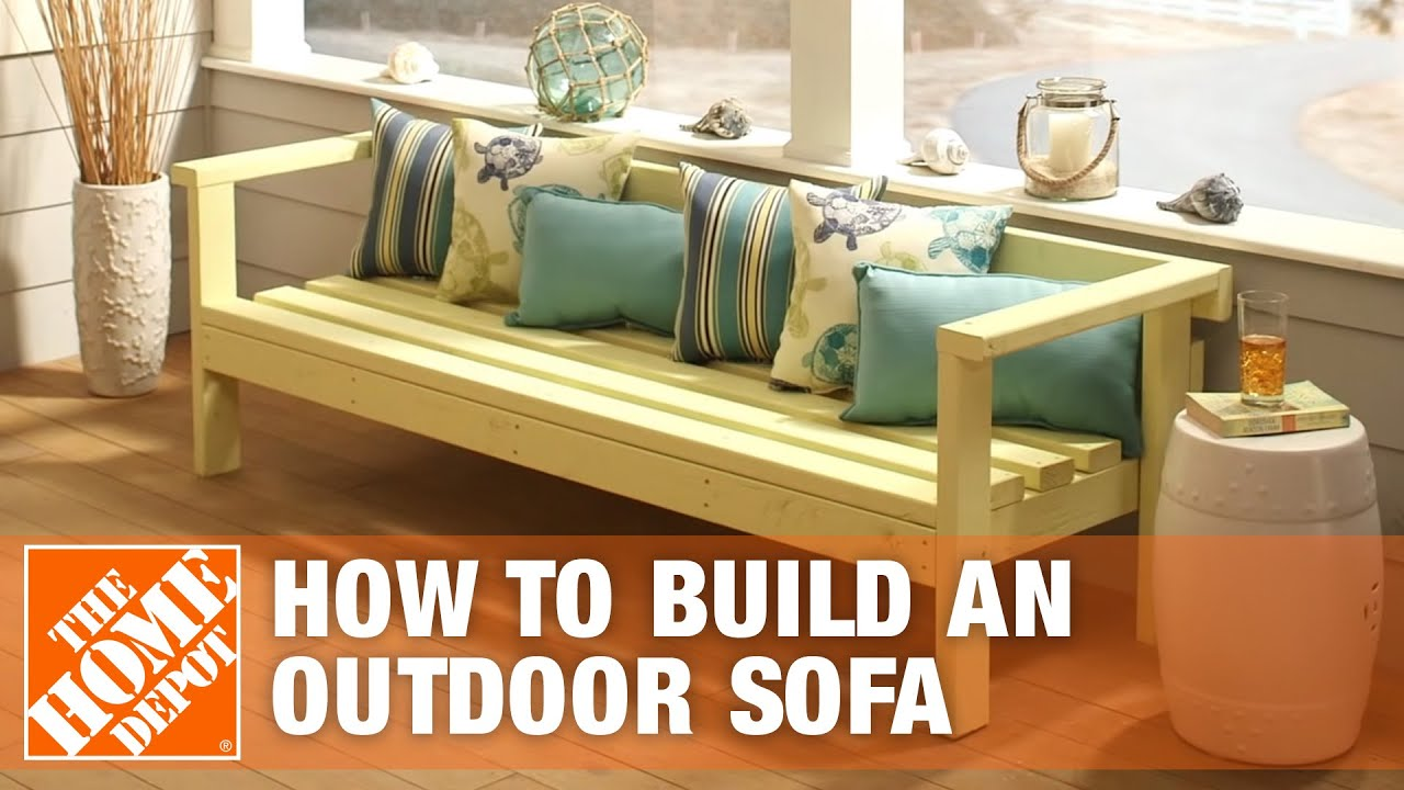 Diy Patio Furniture Outdoor Sofa The Home Depot Youtube