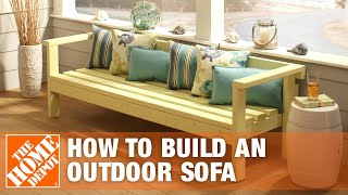 DIY Patio Furniture: Outdoor Sofa | The Home Depot