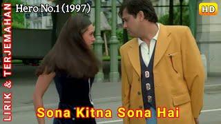 Sona Kitna Sona Hai   Hero No. 1 (1997)   Lirik Terjemahan Indonesia
