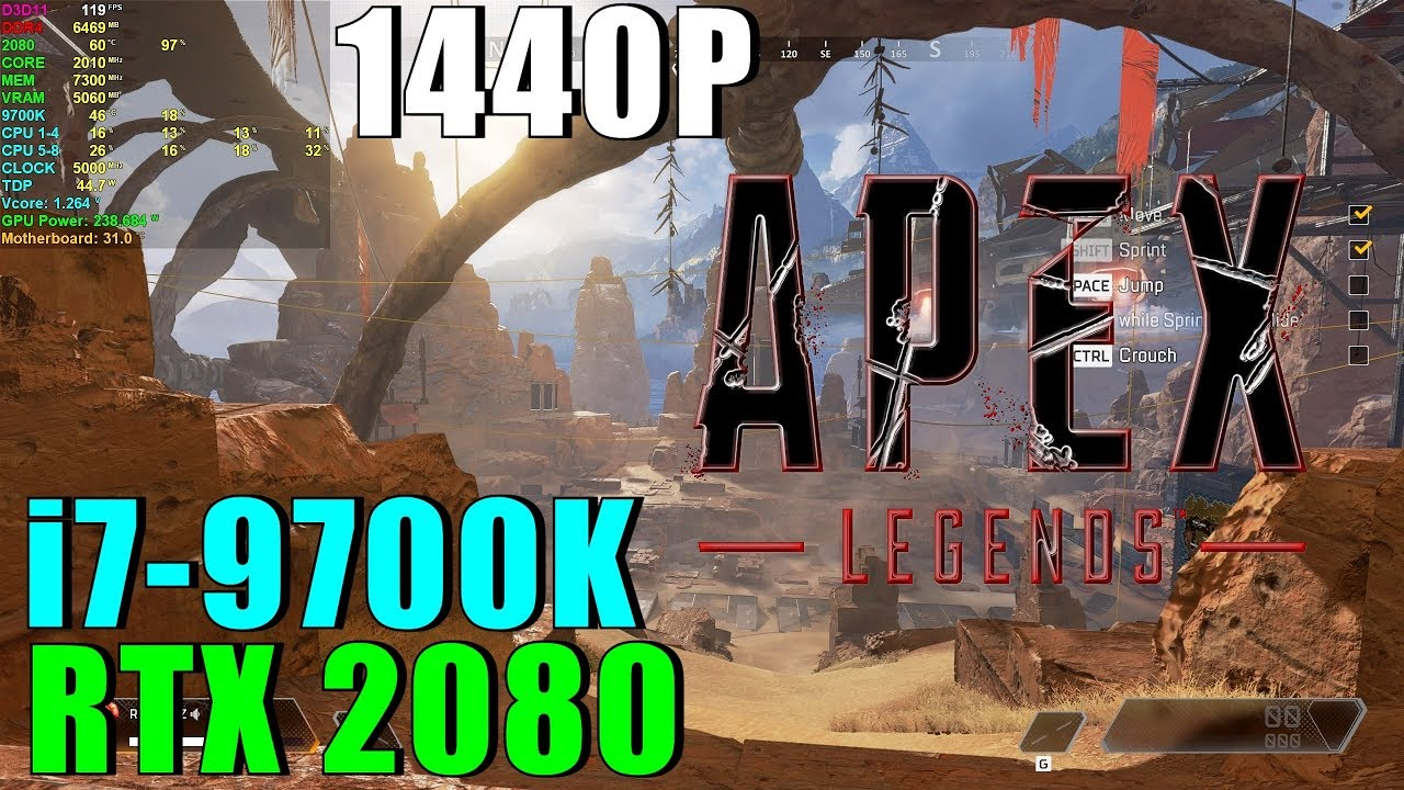 Apex Legends RTX 2080 OC & 9700K 5GHz [ Ultra - 1440P ]