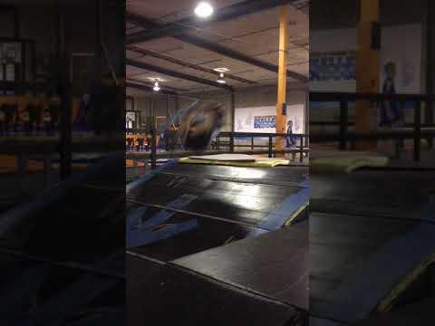 Scooter front flip fail dialled indoor skatepark NZ 2015
