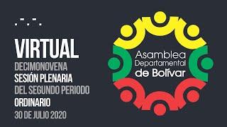 Decimonovena Sesión Plenaria del Segundo Periodo Ordinario - 30 Julio 2020