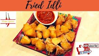 Idli Fry/ Fried IDLI/ snacks with leftover idli/ easy snack recipe