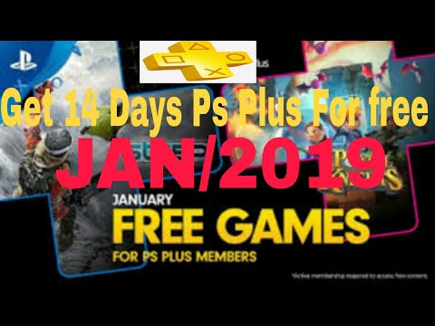 How To Get FREE PS PLUS 14 DAY TRIAL Without CREDIT CARD! (jan/2019) [Free PS Plus Membership]