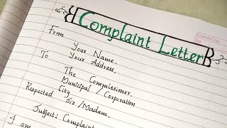 Complaint letter to the authority about damaged road..//complaint letter to repair the street road