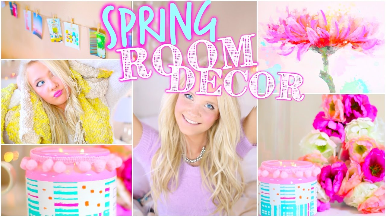 diy spring room decor: tumblr inspired! - youtube