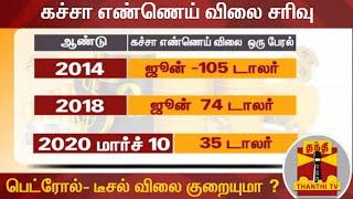 கச்சா எண்ணெய் விலை சரிவு : இந்தியாவில் பெட்ரோல்- டீசல் விலை குறையுமா ? | Petrol Price | Diesel Price
