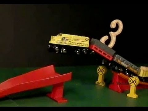 The Number Train counts 0 to 10, and flies and crashes in slow motion