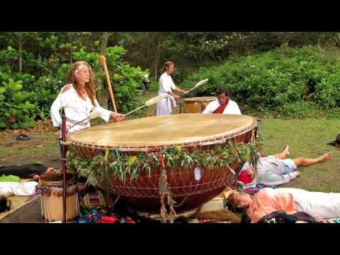 White Eagle Medicine Woman & Grandmother Drum 2012 Waipio Valley, Hawaii