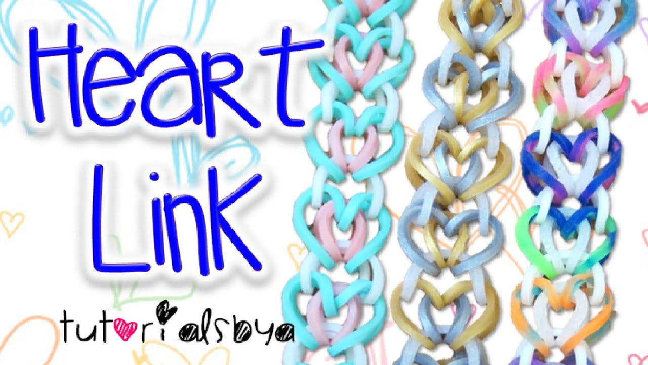 how to make a heart out of rainbow loom