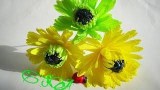 ГЕРБЕРА из гофрированной бумаги с конфеткой. Пошаговый мастер-класс.(Как сделать красивый цветок герберы с конфеткой внутри вы узнаете в данном мастер-классе., 2016-02-01T06:55:18.000Z)