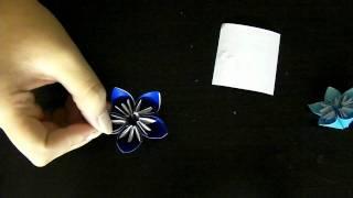 Diy: Holiday- Origami Flower Ornament