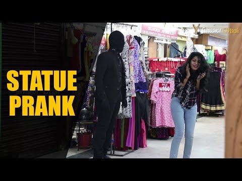 Funny Statue Prank in Chennai - தமிழ் | Slingshot Machi
