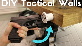 "In this video we focus on how to create your own hidden compartment for storage with ""rev-a-lock"" magnetic locks. 0:00 tactical wall"