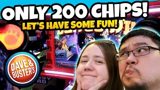Only 200 Chips! Claw Machine And Ticket Fun Run At Dave And Busters Arcade!