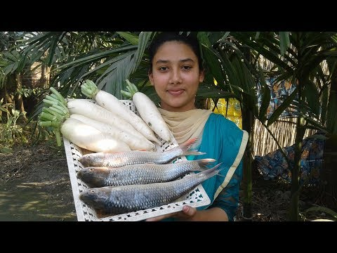 Delicious Radish Fish Curry Recipe | Healthy & Tasty | Cooking By Street Village Food