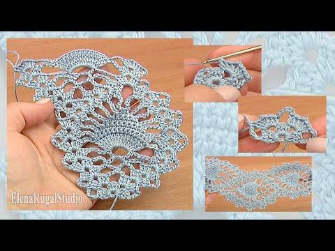 Pineapple Stitch Fish Stitch Lace Tape Crochet Tutorial 15 Free Crochet Lace Pattern