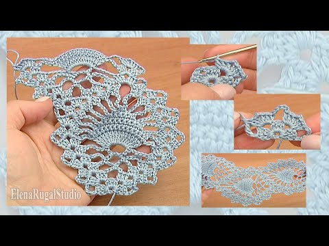 Pineapple Stitch Fish Stitch Lace Tape Crochet Tutorial 15 Free Crochet Lace Pattern