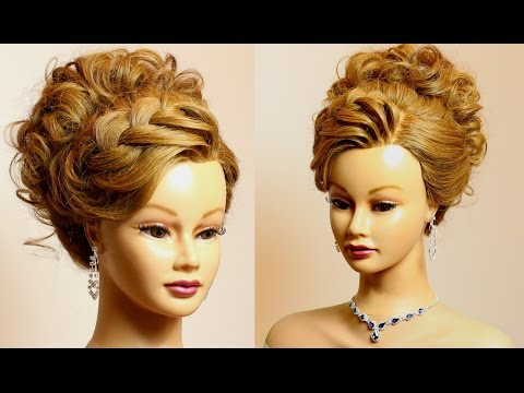 Prom Bridal Updo: Hairstyle for Long Medium Hair Tutorial
