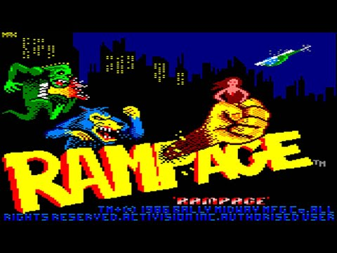[Amstrad CPC] Rampage - Longplay