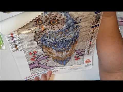 Diamond Painting First Impressions - Diamond Art Club - BLUE OWL