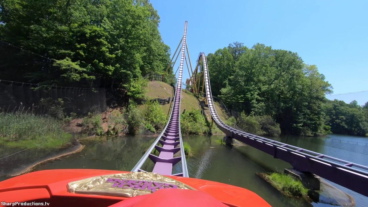 Apollo's Chariot (4K On-Ride) Busch Gardens Williamsburg