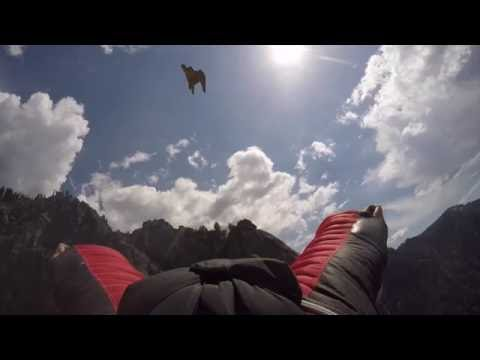 Peregrine Falcon Chases Human Wingsuit Pilot -- Brendan Weinstein -- Proximity Flying