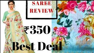 Flipkart Saree review affordable saree n kurti haul under 350