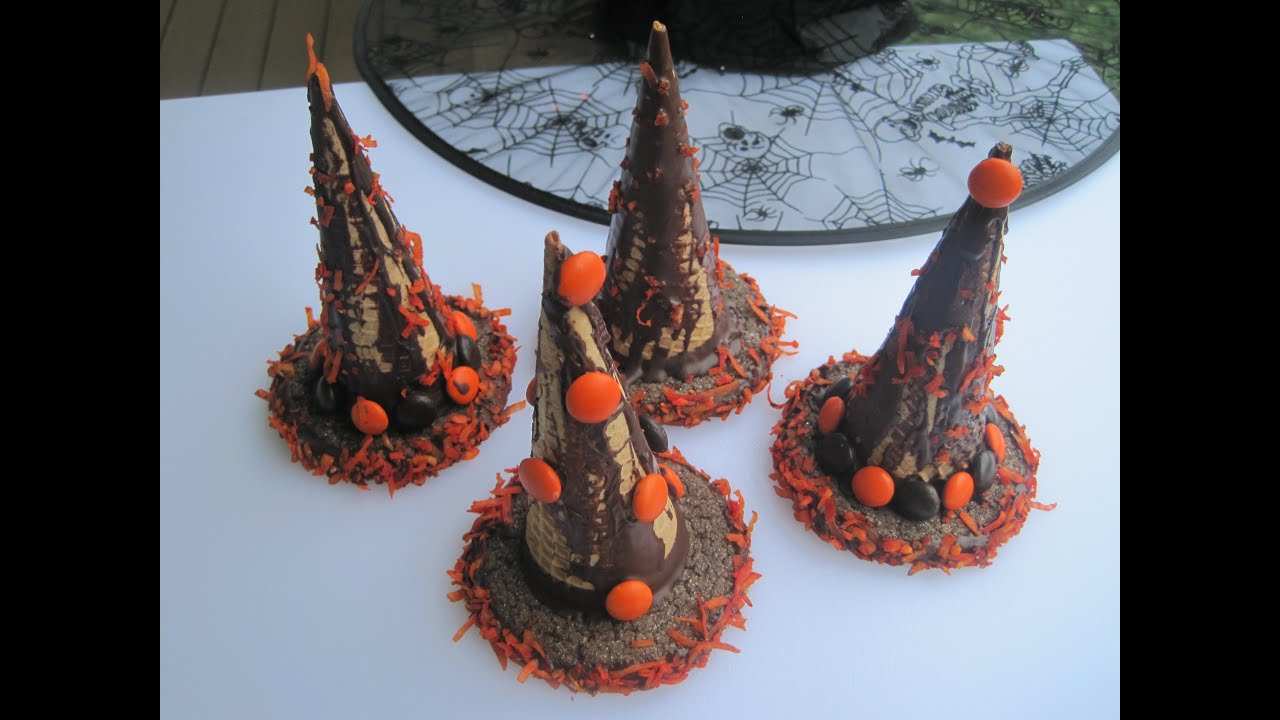 HALLOWEEN WITCH HATS - How to make HALLOWEEN TREATS, SNACKS & PARTY ...