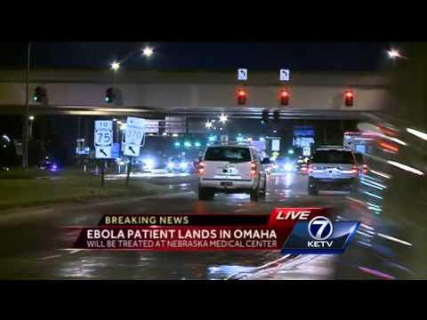 Ebola patient lands in Omaha