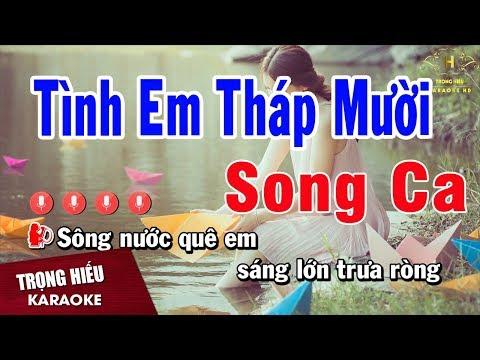Karaoke Tình Em Tháp Mười Song Ca  Nguyen Nhat & Lien Nguyen